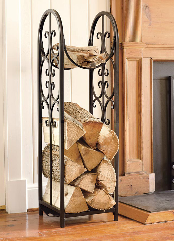 Image of: Modern Firewood Holder