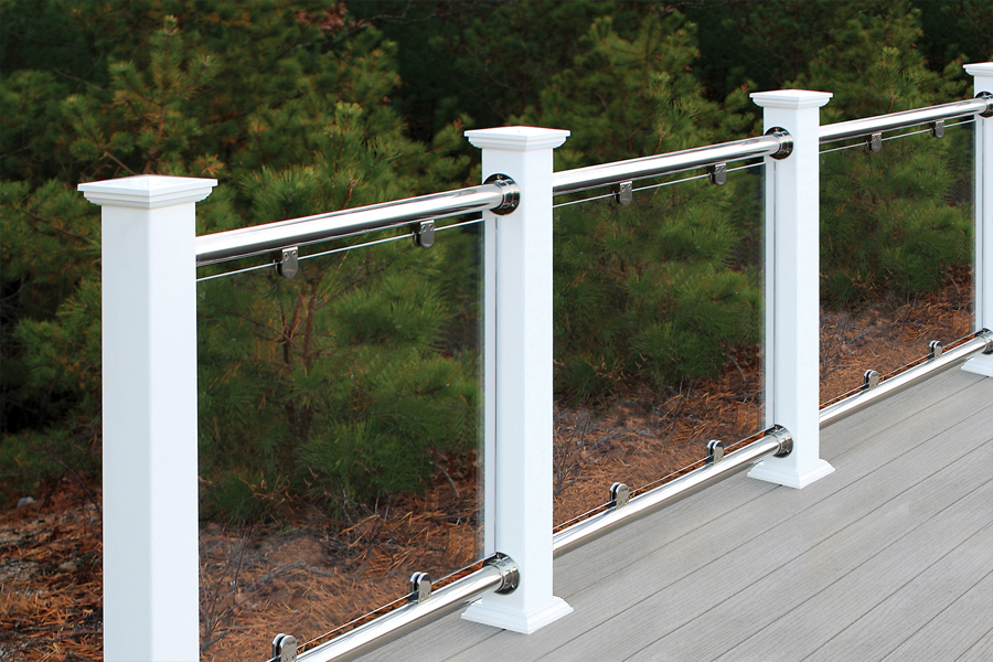Modern Glass Deck Railing