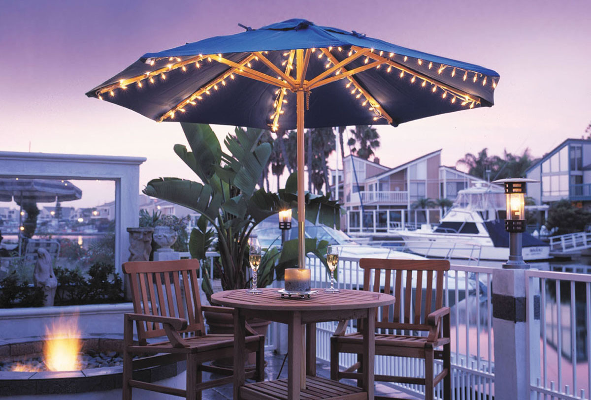 Modern Patio Umbrella Lights