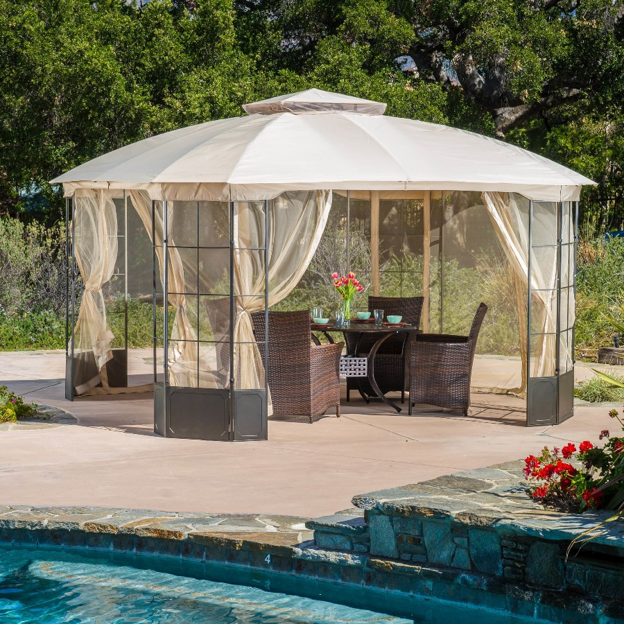 Image of: Modern Portable Gazebo for Deck