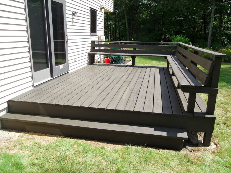 Image of: Modern Solid Deck Stain