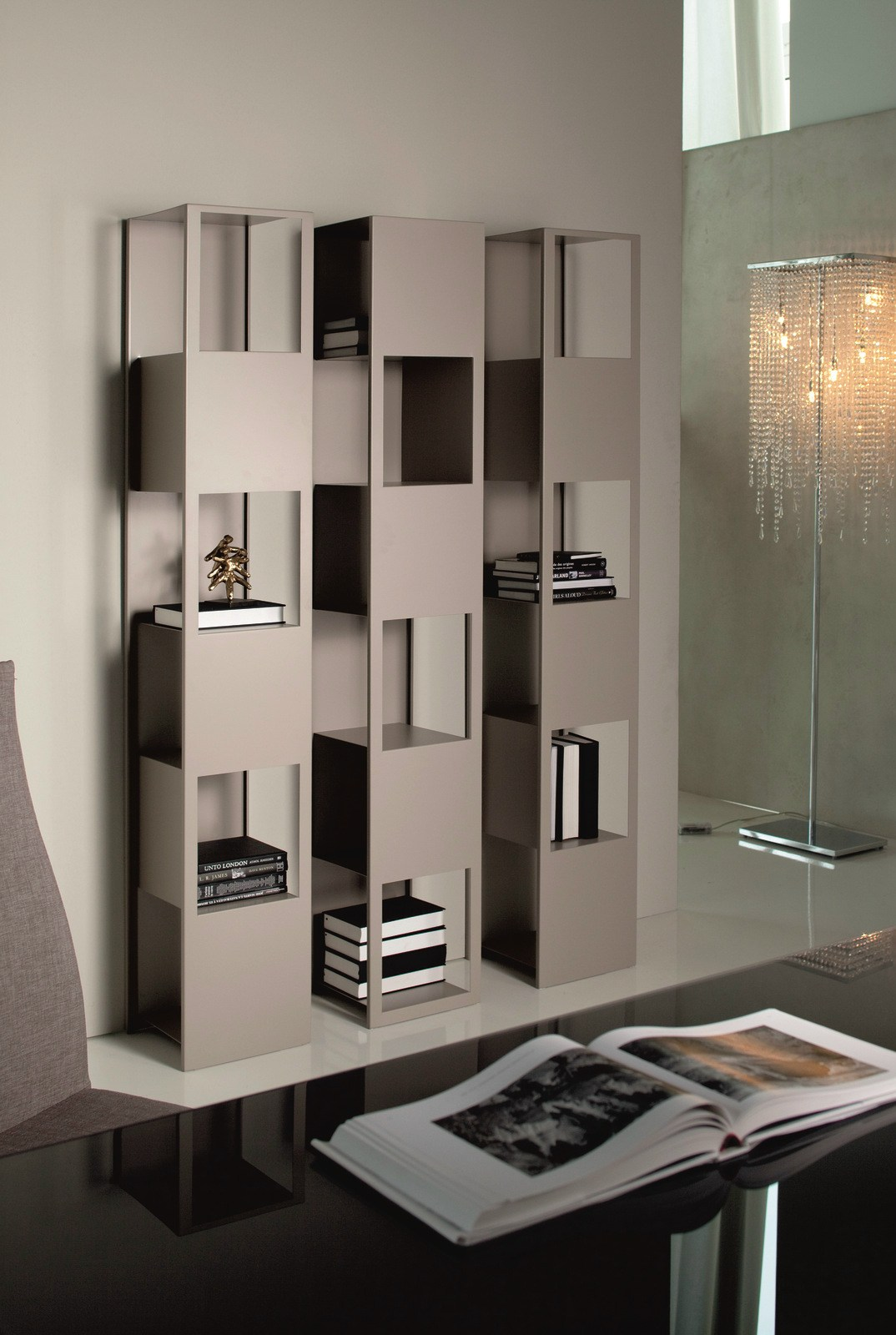 Image of: Modern Steel Bookcase