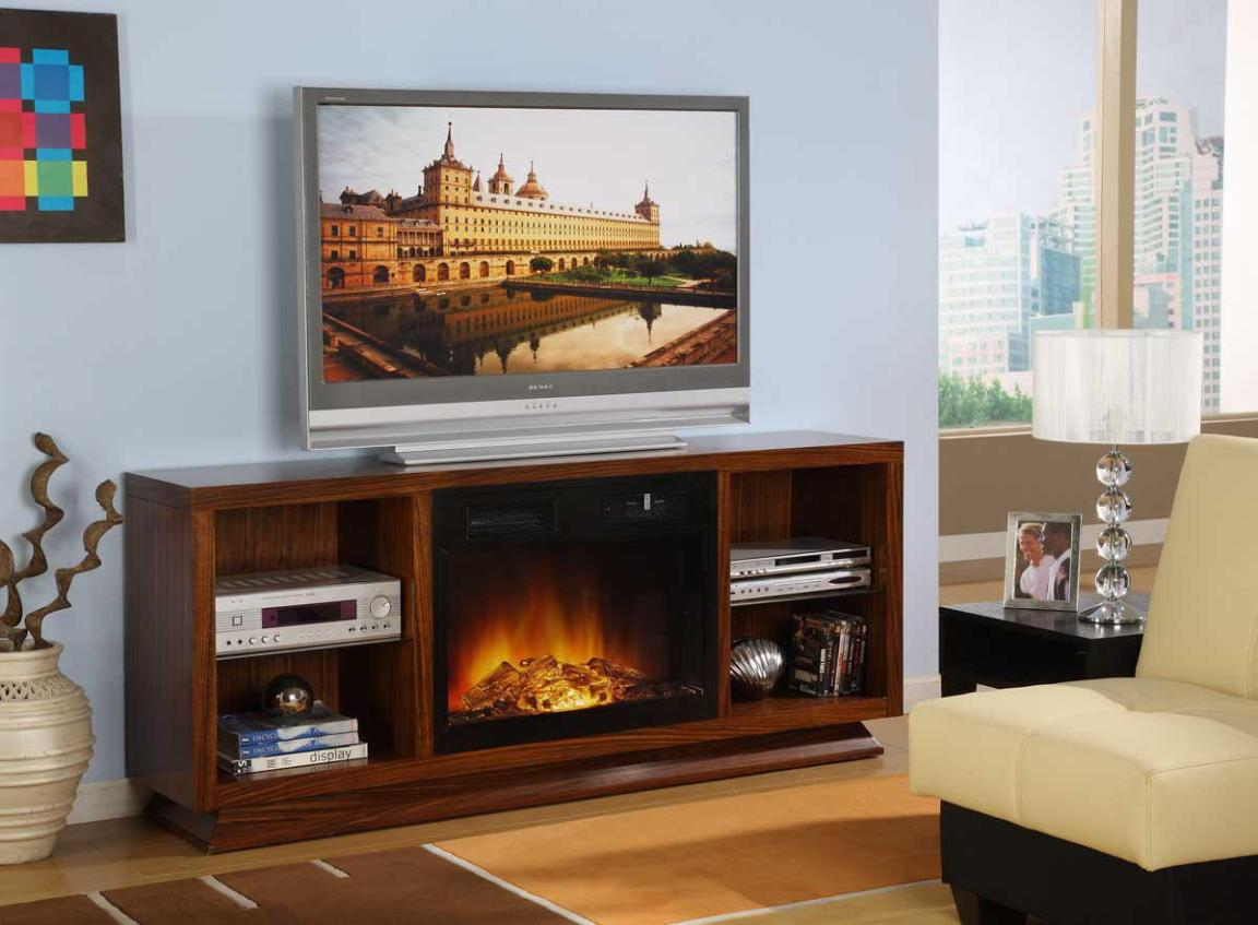Image of: Modern Tv Stand With Electric Fireplace