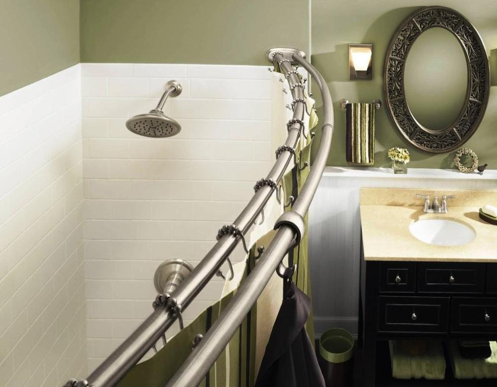 Image of: Moen Double Shower Curtain Rod