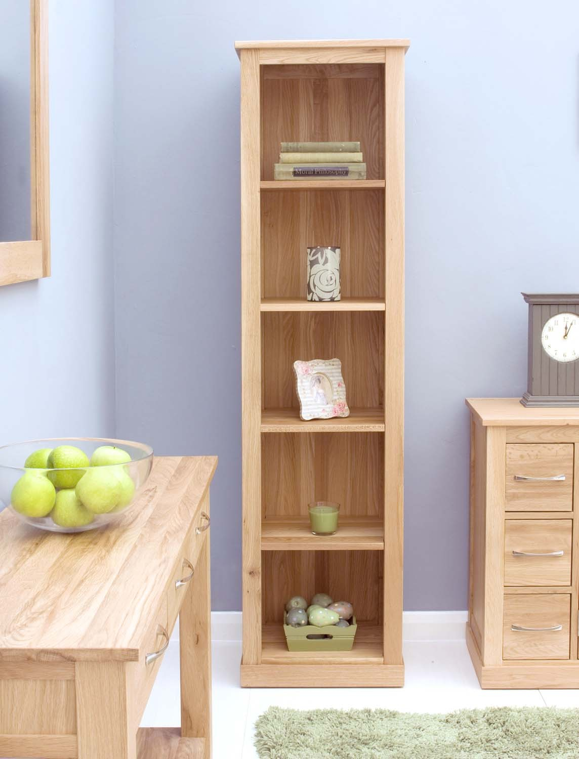 Image of: Narrow bookcase furniture