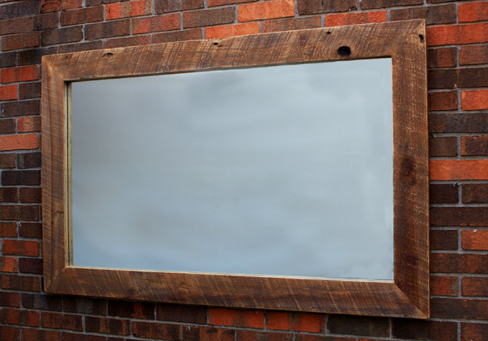 Image of: Natural Reclaimed Wood Mirror Frame