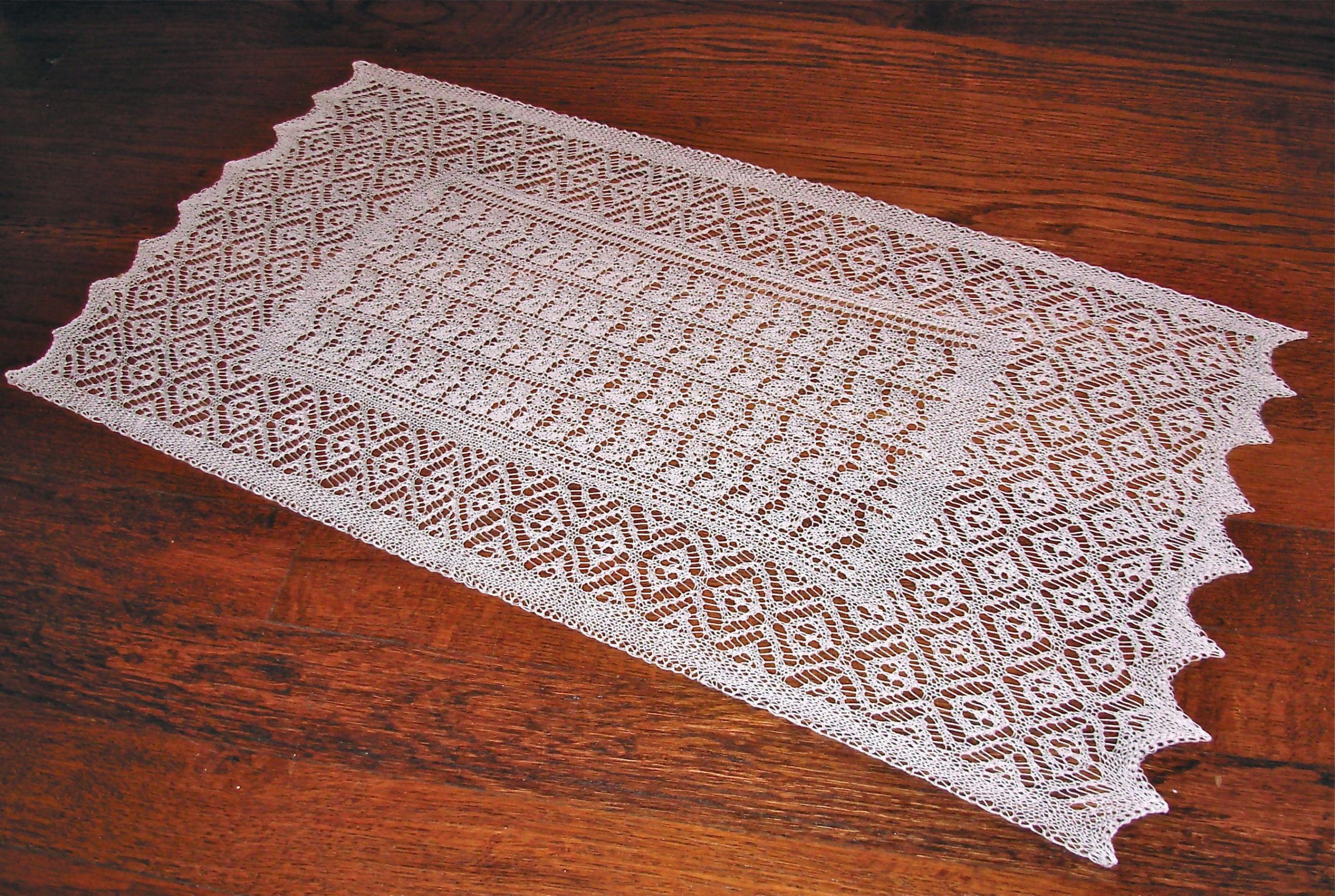 Image of: Navy Lace Table Runner