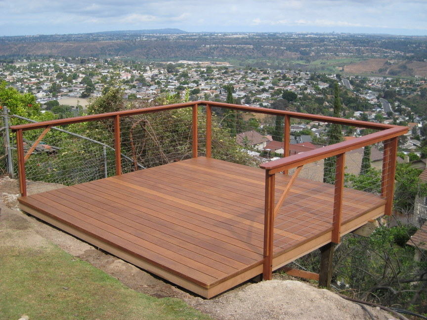 Image of: New Cable Deck Railing