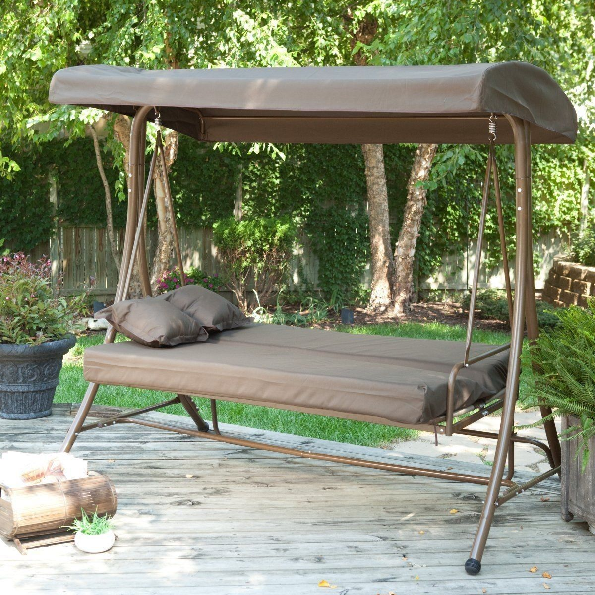 Image of: New Patio Swing with Canopy