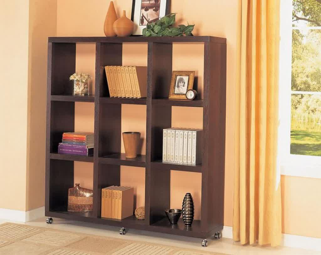 Image of: New Solid Wood Bookcase