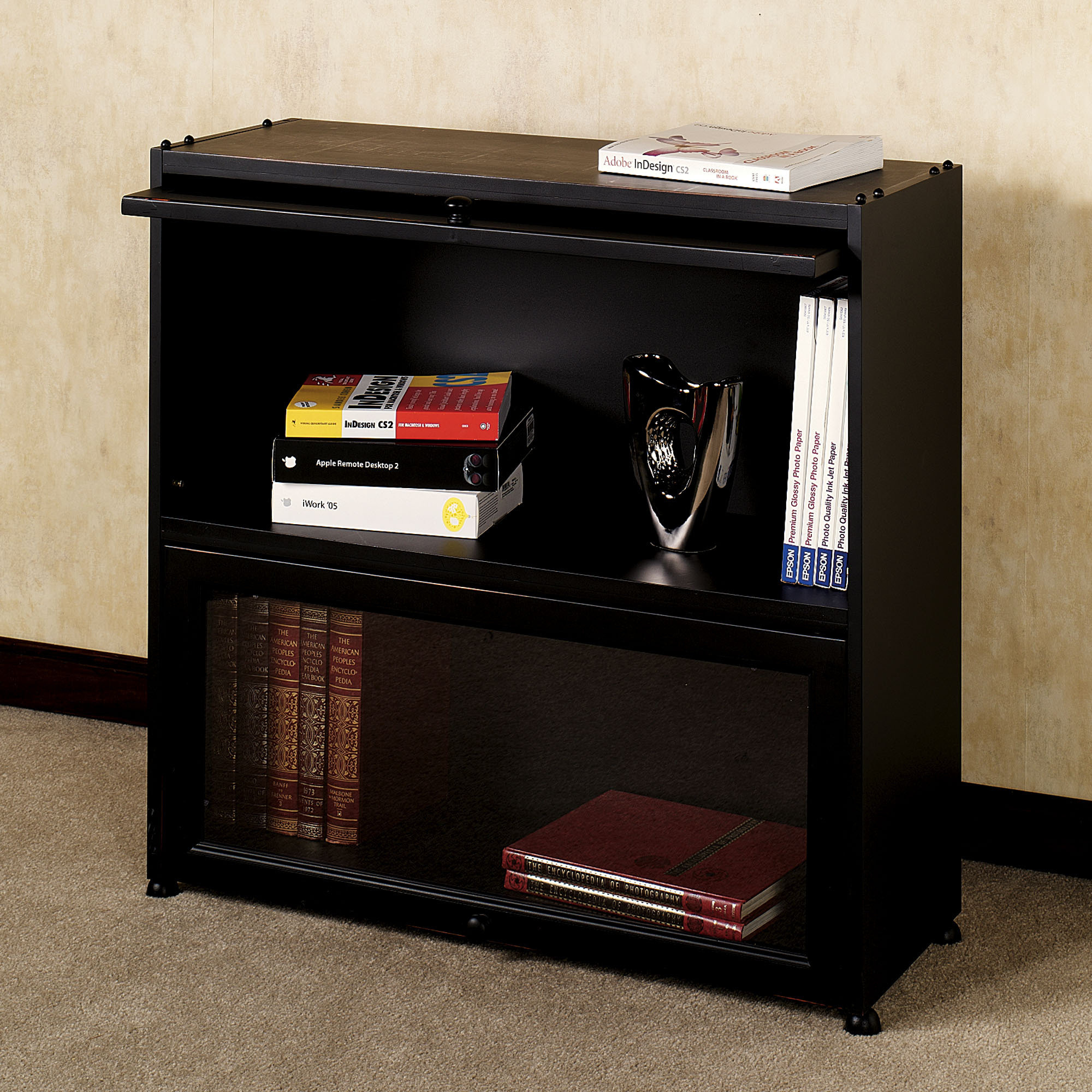 Image of: Nice Barrister Bookcase