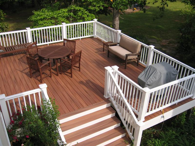 Image of: Nice Composite Deck Railings