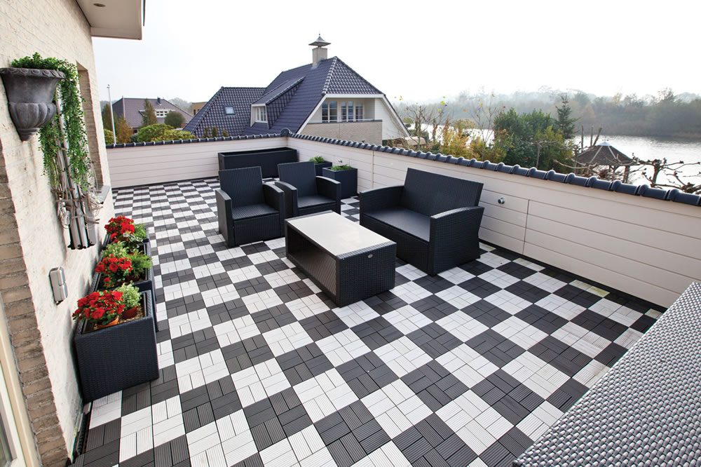 Image of: Nice Deck Tile