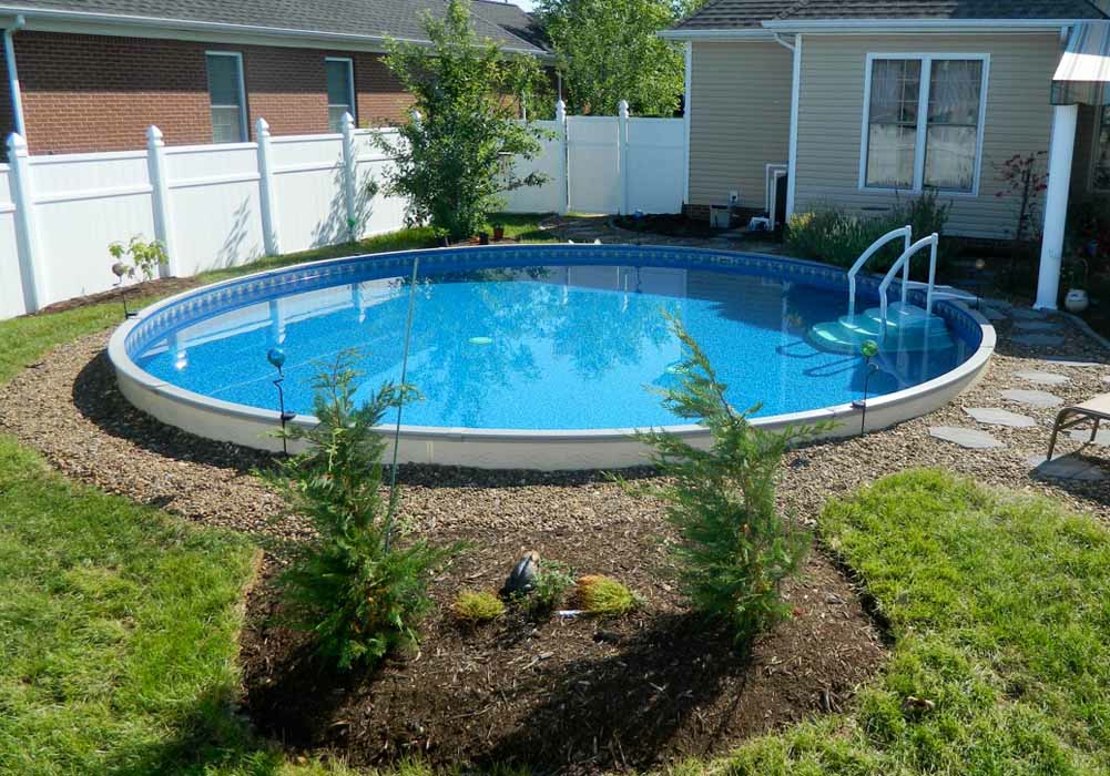 Image of: Nice Fiberglass Inground Pools