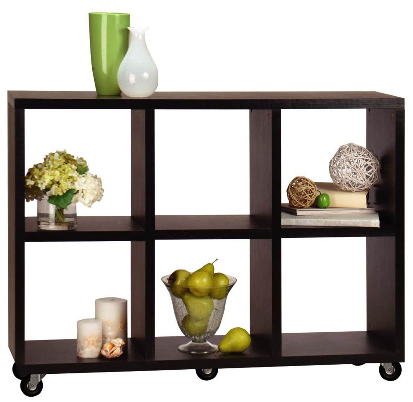 Image of: Nice Rolling Bookcase