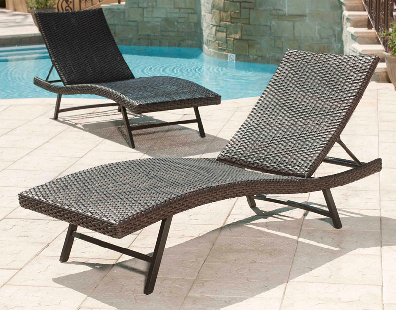 Image of: Outdoor Chaise Lounge Rattan