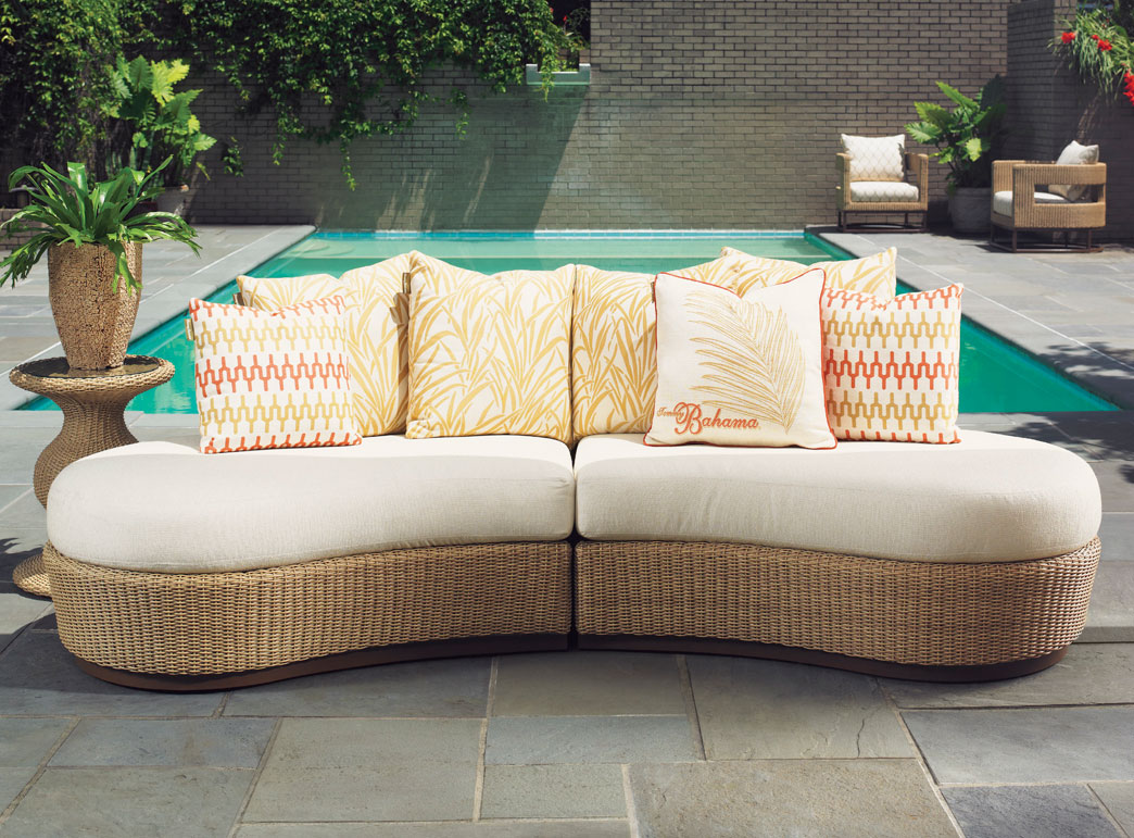 Image of: Outdoor Chaise Lounge Sofa