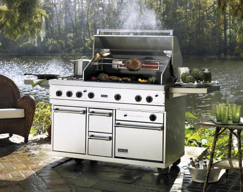 Image of: Outdoor Griddle Island