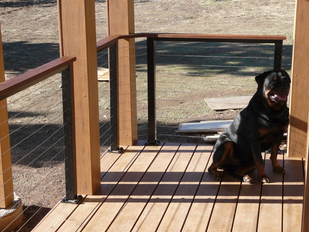 Image of: Outdoor Metal Deck Railing Ideas