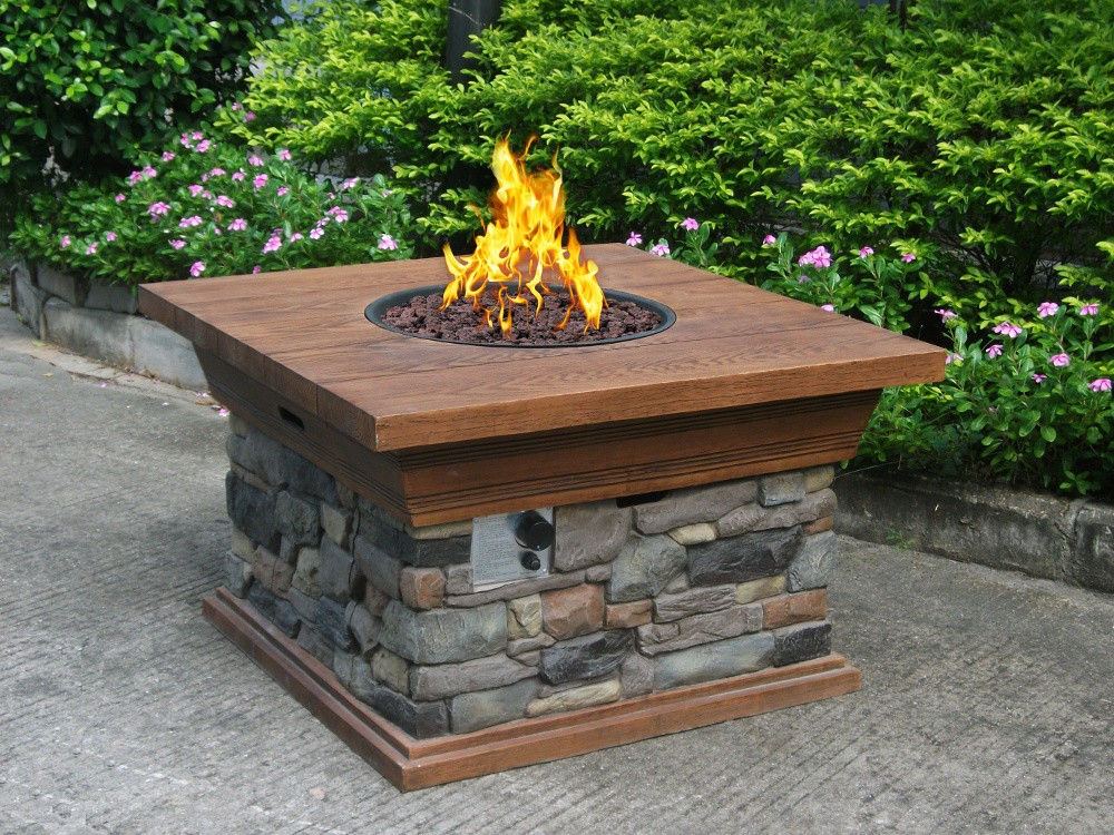 Image of: Outdoor Propane Fire Pit Kits
