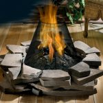 Outdoor Propane Fire Pit Logs