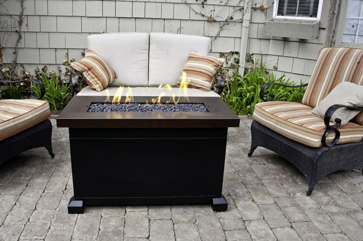 Image of: Outdoor Propane Fire Pit Table