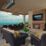 Outdoor Propane Fireplace Contemporary