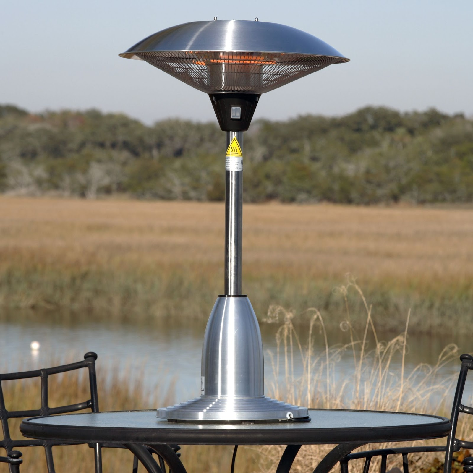 Image of: Outdoor Propane Heaters on the Table