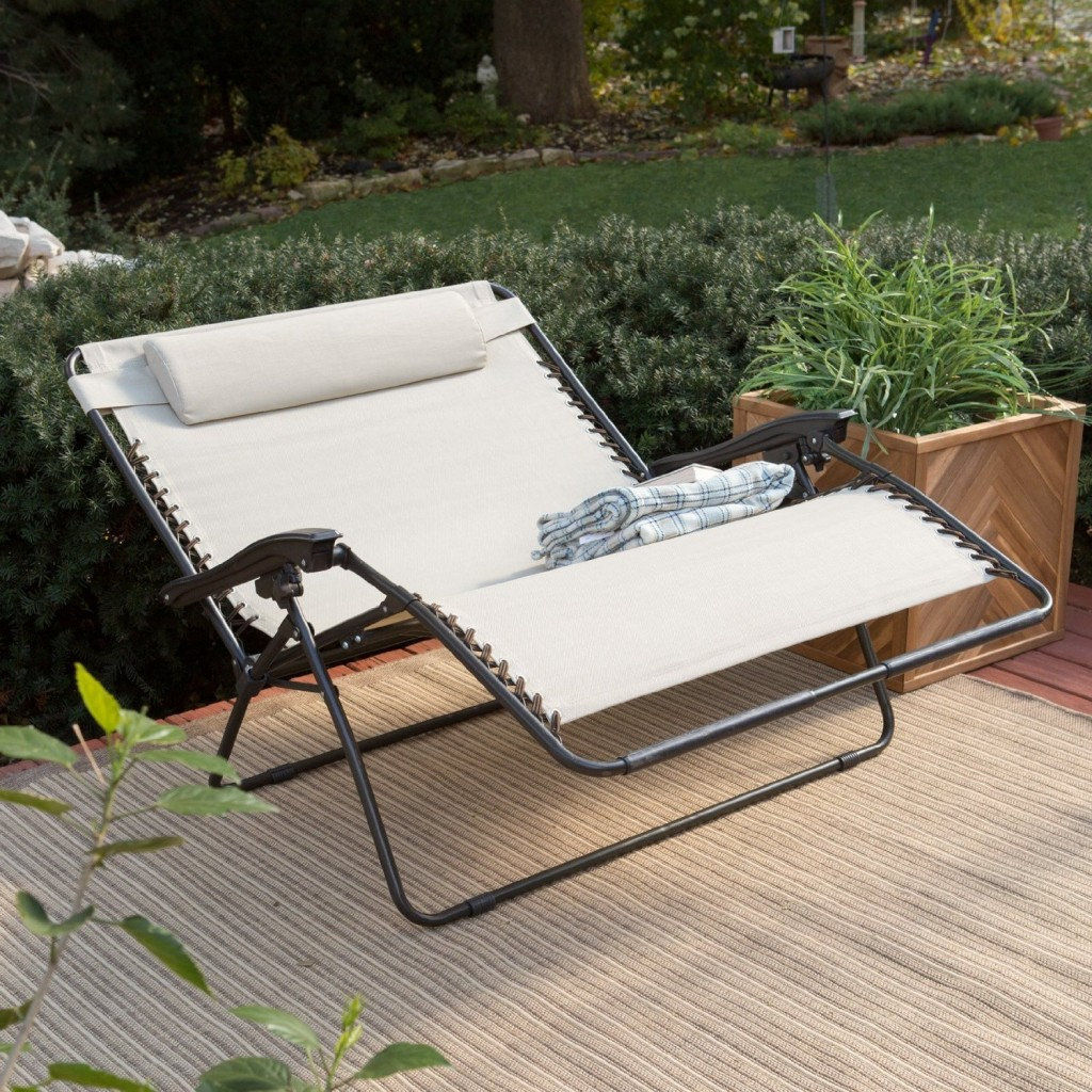 Image of: Outdoor Recliner Double