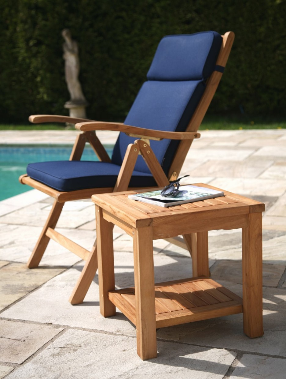Image of: Outdoor Recliner Wood
