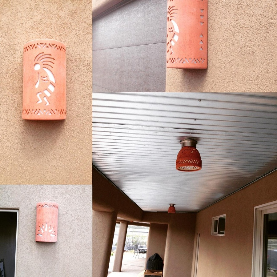 Image of: Outdoor Sconces Color