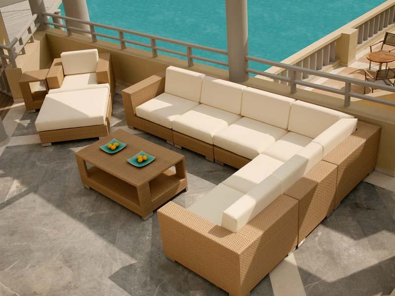 Image of: Outdoor Sectional Furniture Style