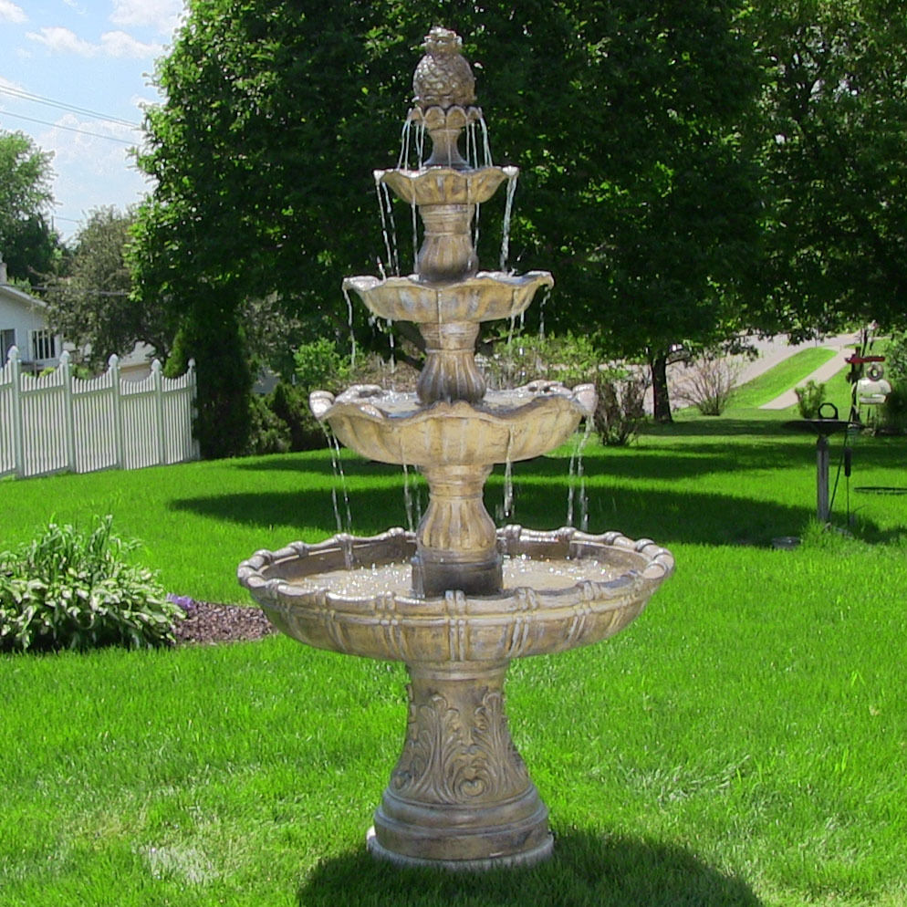 Image of: Outdoor Waterfall Fountain