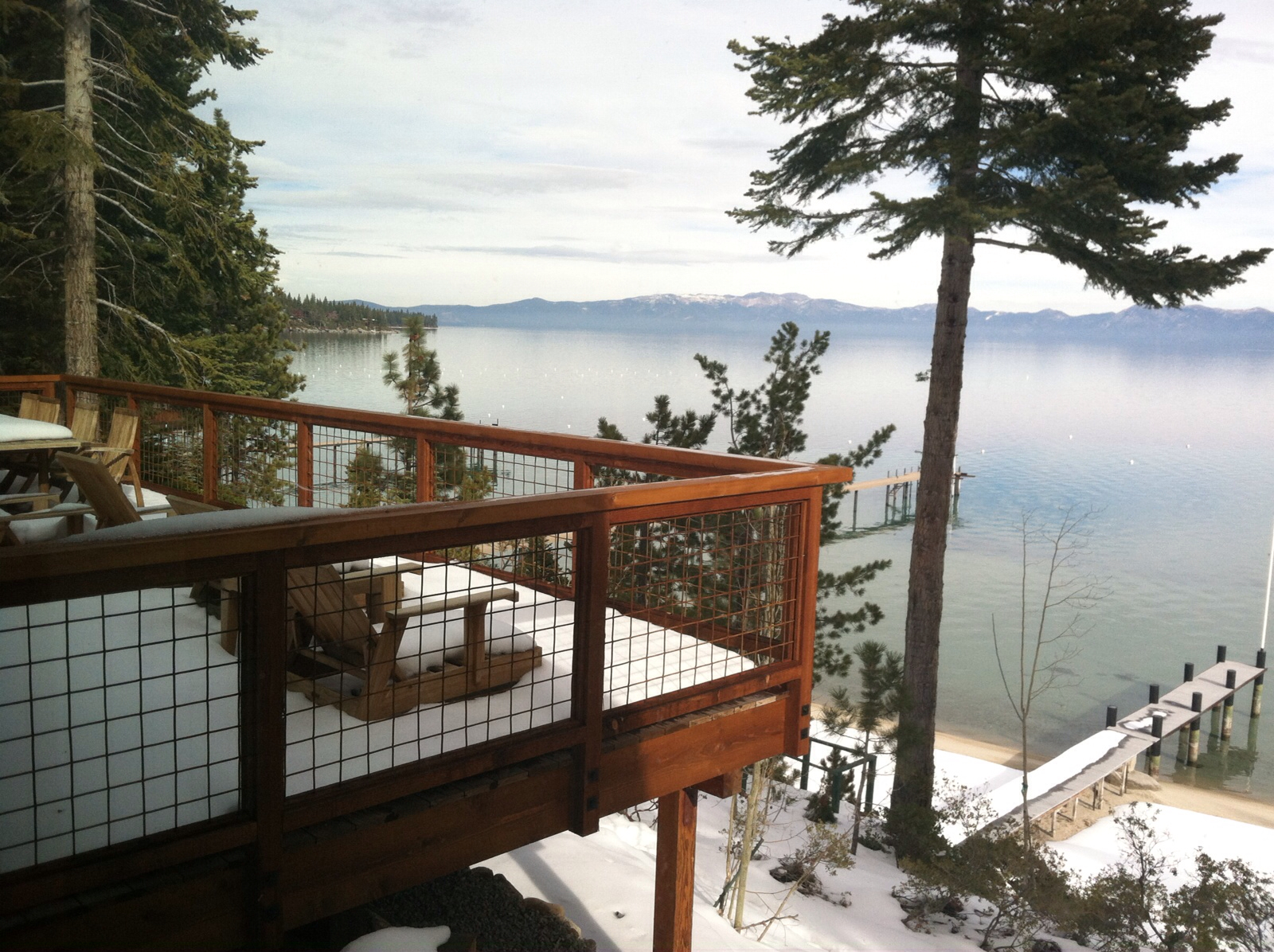 Image of: Outdoor Wire Mesh Deck Railing