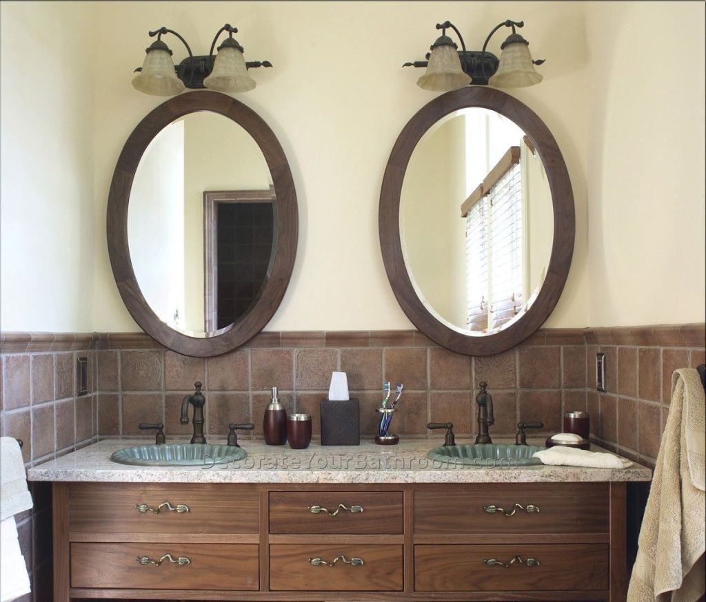 Image of: Oval Bathroom Mirrors Oil Rubbed Bronze