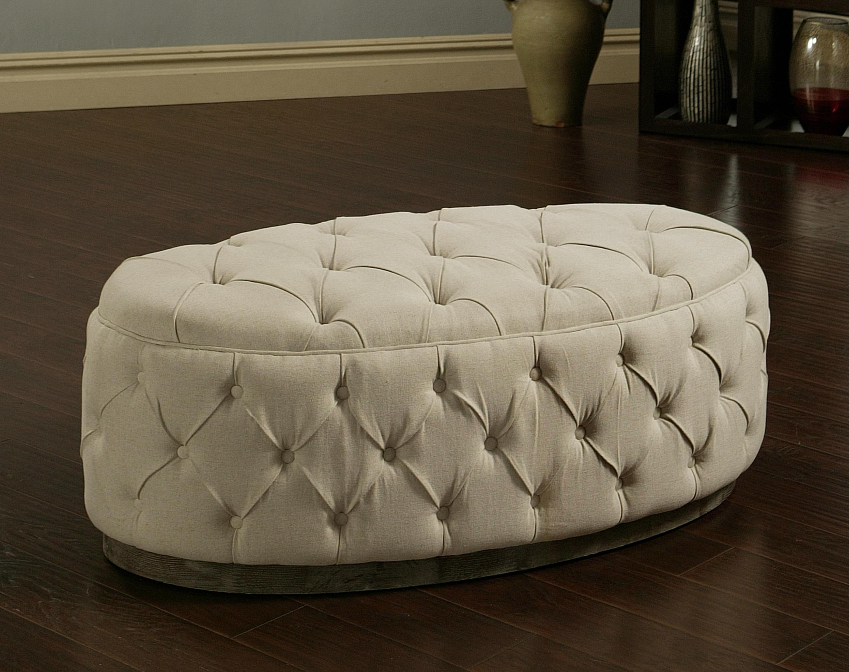 Image of: Oval Tufted Ottoman