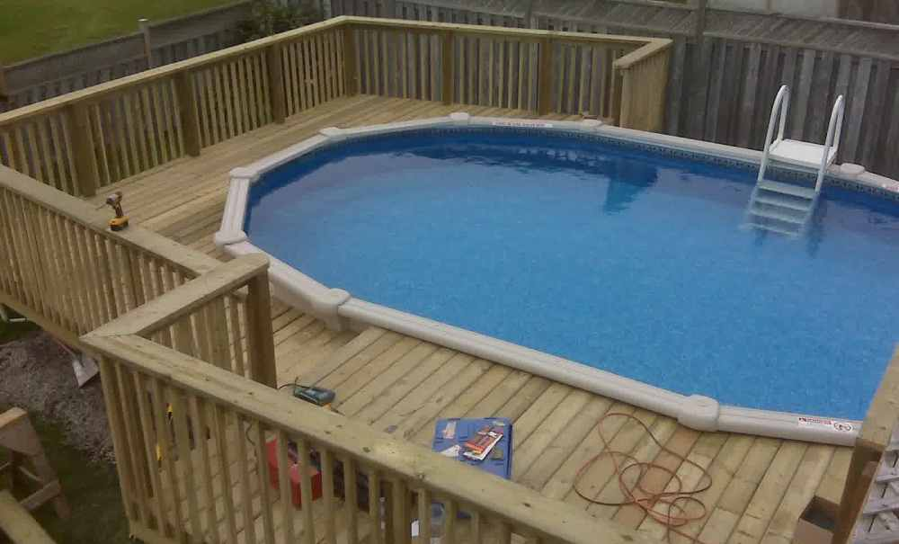 Image of: Oval above Ground Pools Image