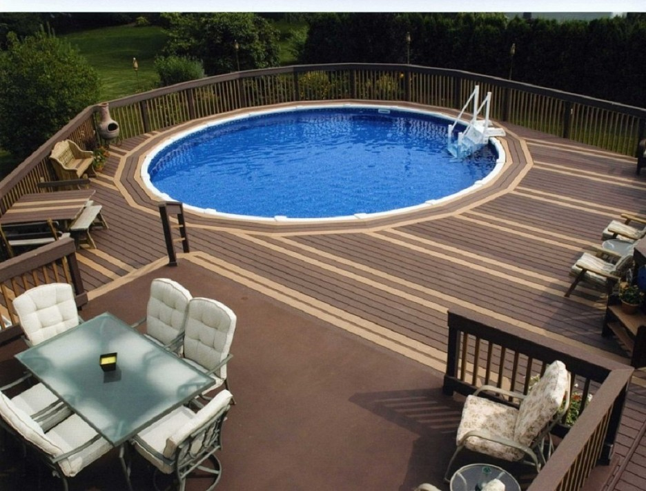 Image of: Oval above Ground Pools Picture