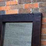 Painted Reclaimed Wood Mirror Frame