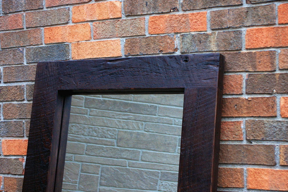 Image of: Painted Reclaimed Wood Mirror Frame
