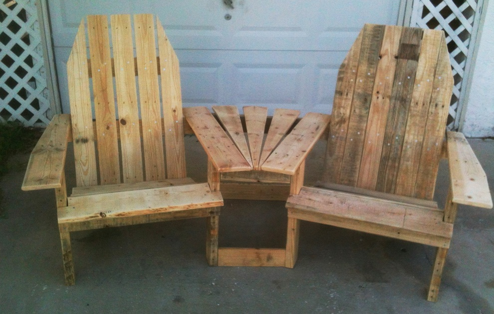 Image of: Pallet Patio Furniture Chairs