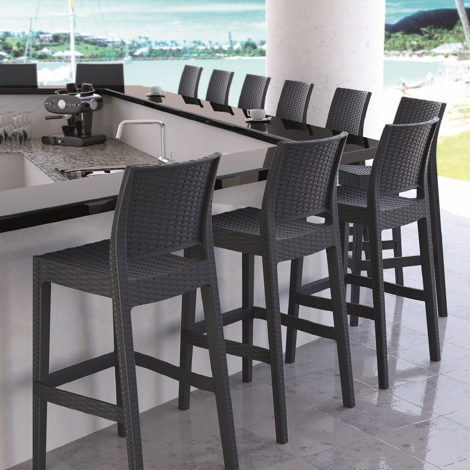 Image of: Patio Bar Stools Color