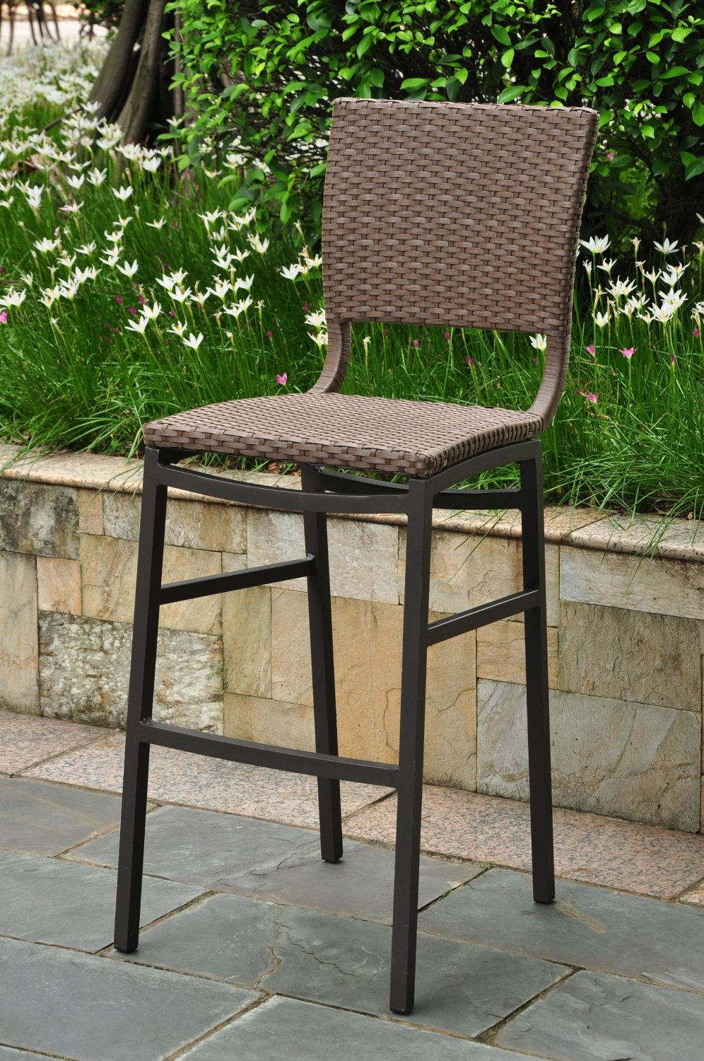Image of: Patio Bar Stools Wicker