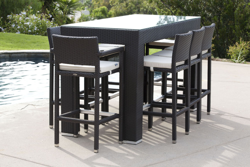 Image of: Patio Bar Stools and Table