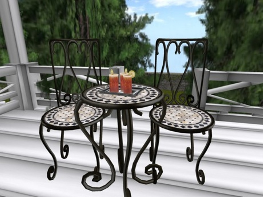 Image of: Patio Bistro Sets Stylest