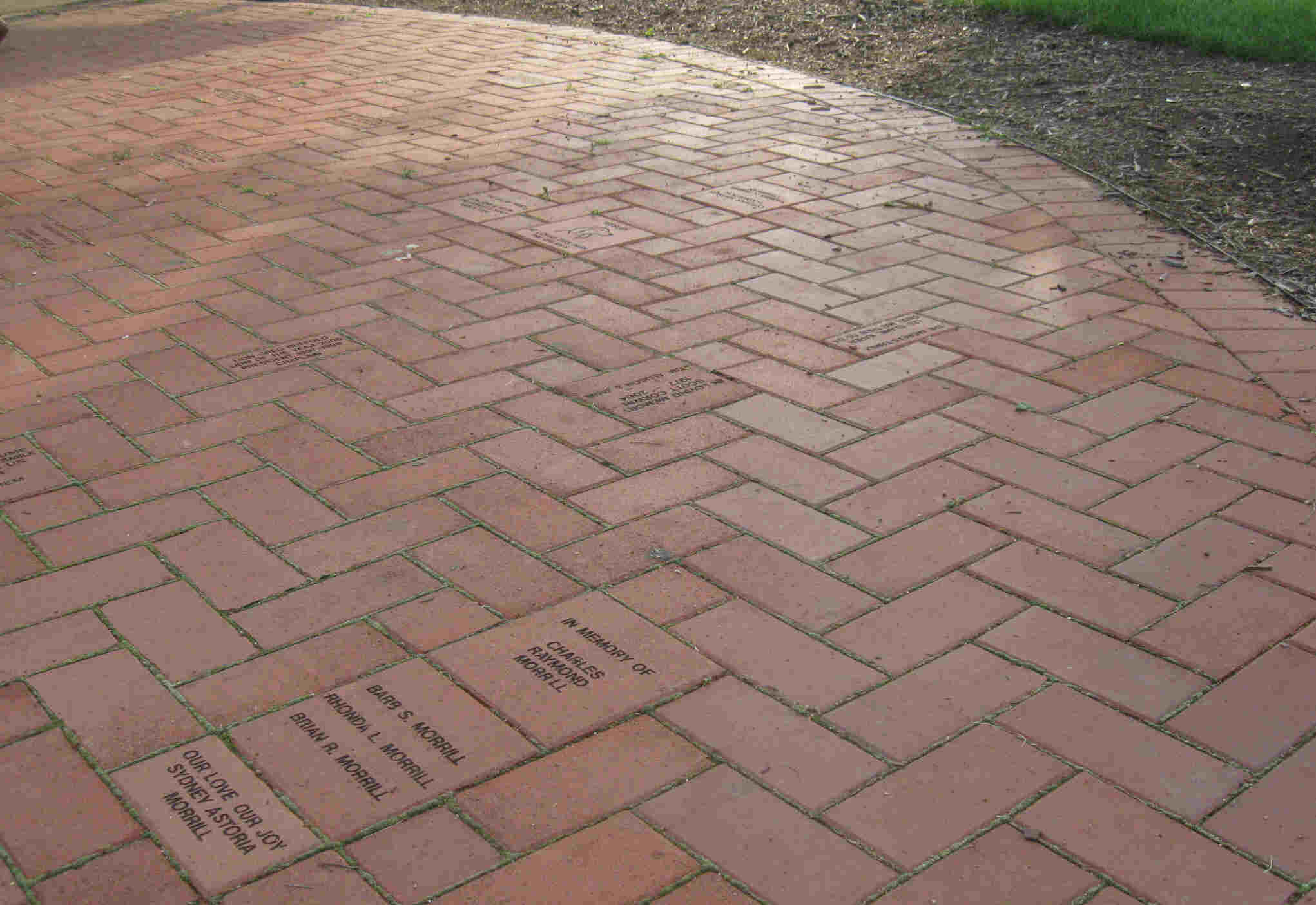 Image of: Patio Bricks Design