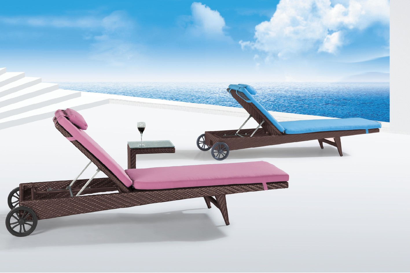 Image of: Patio Chaise Lounge Chairs Inspired