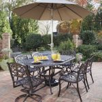 Patio Dining Set with Umbrella Color