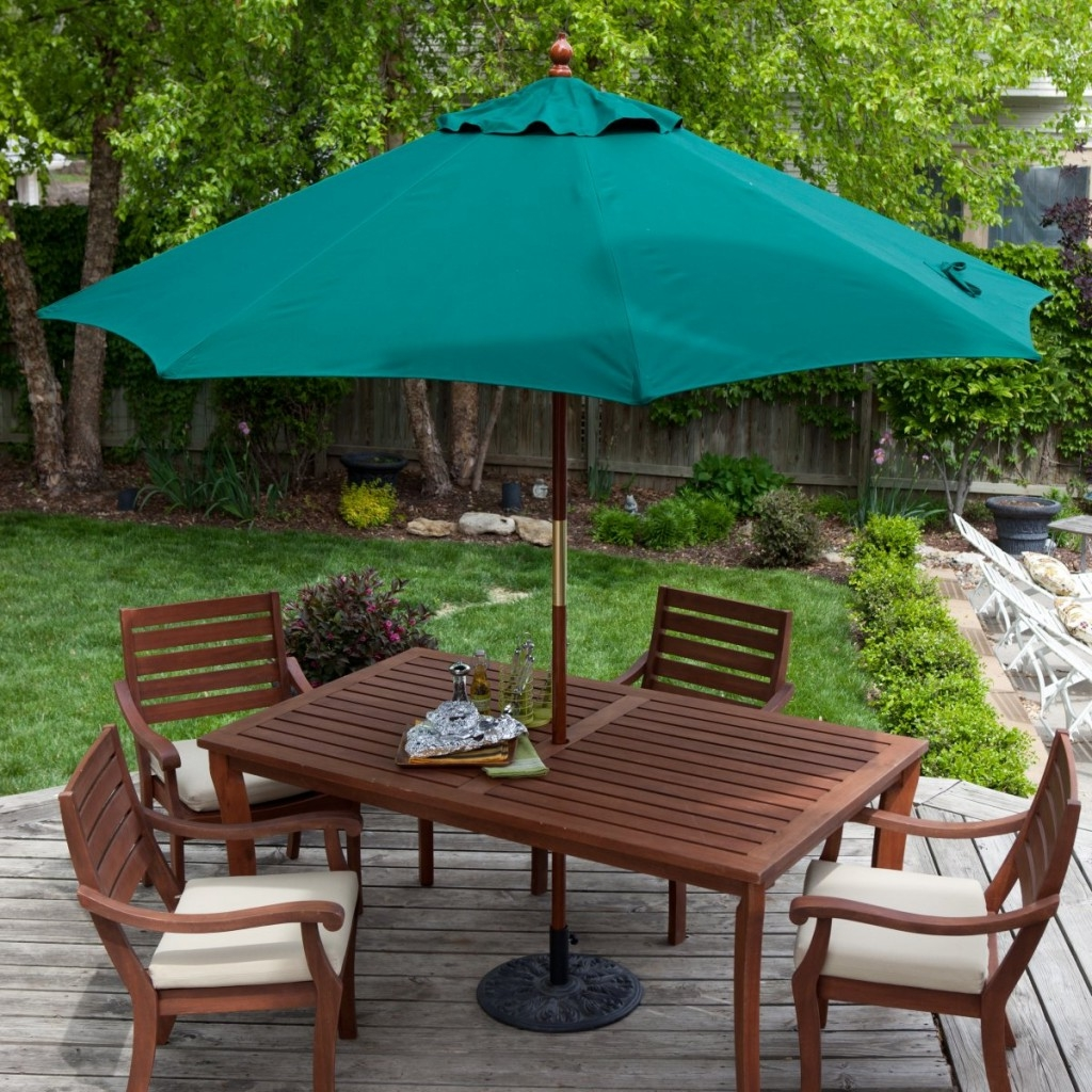 Image of: Patio Furniture with Umbrella Color