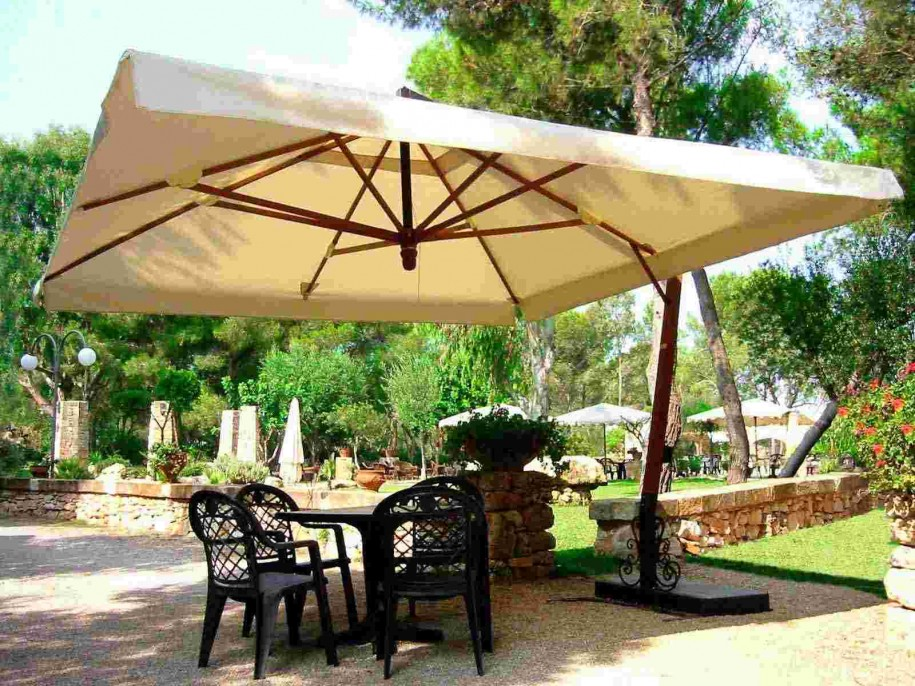 Image of: Patio Furniture with Umbrella Large